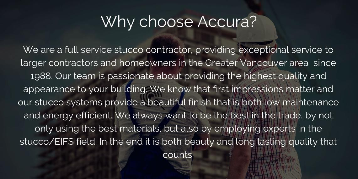 WHY ACCURA?